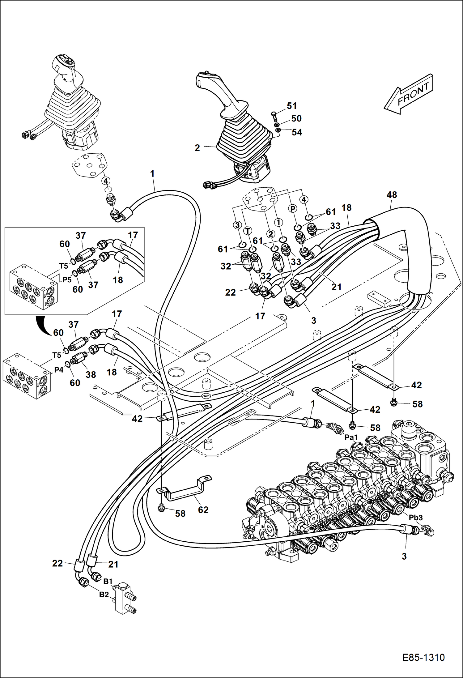Bobcat 743 Hydraulic Hose Diagram