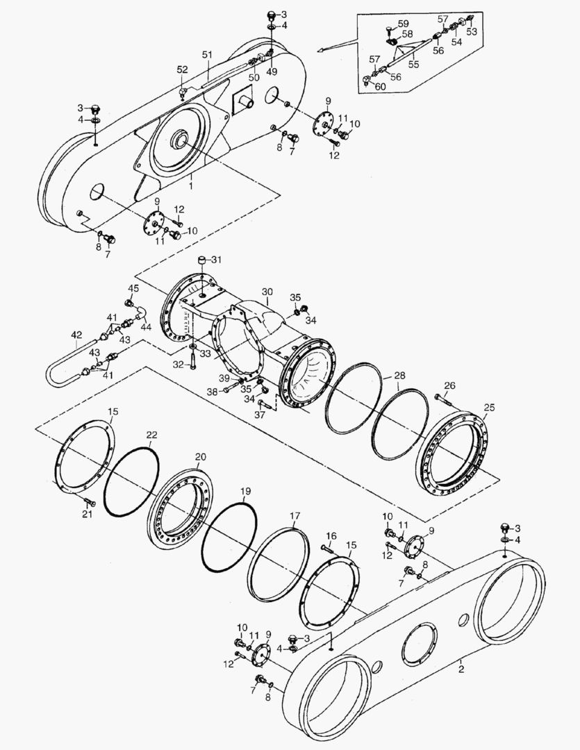 Запчасти на Самосвалы Moxy MT40B S/N 513001-513140 G039 DRIVE LINE,BRAKES AND WHEELS / G039-13 DRIVE LINE; REAR / Doosan (Дусан)