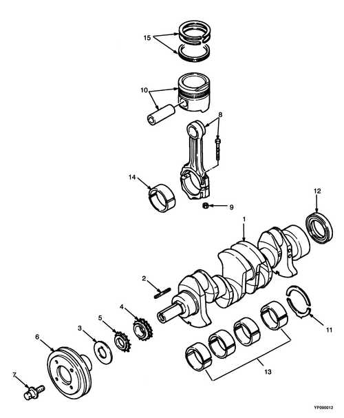 Запчасти на P11934 -  CRANKSHAFT AND PISTON Yale