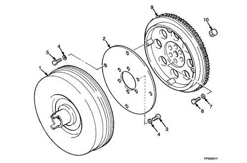 Запчасти на D47 -  FLYWHEEL AND TORQUE CONVERTER (=> 593539) Yale